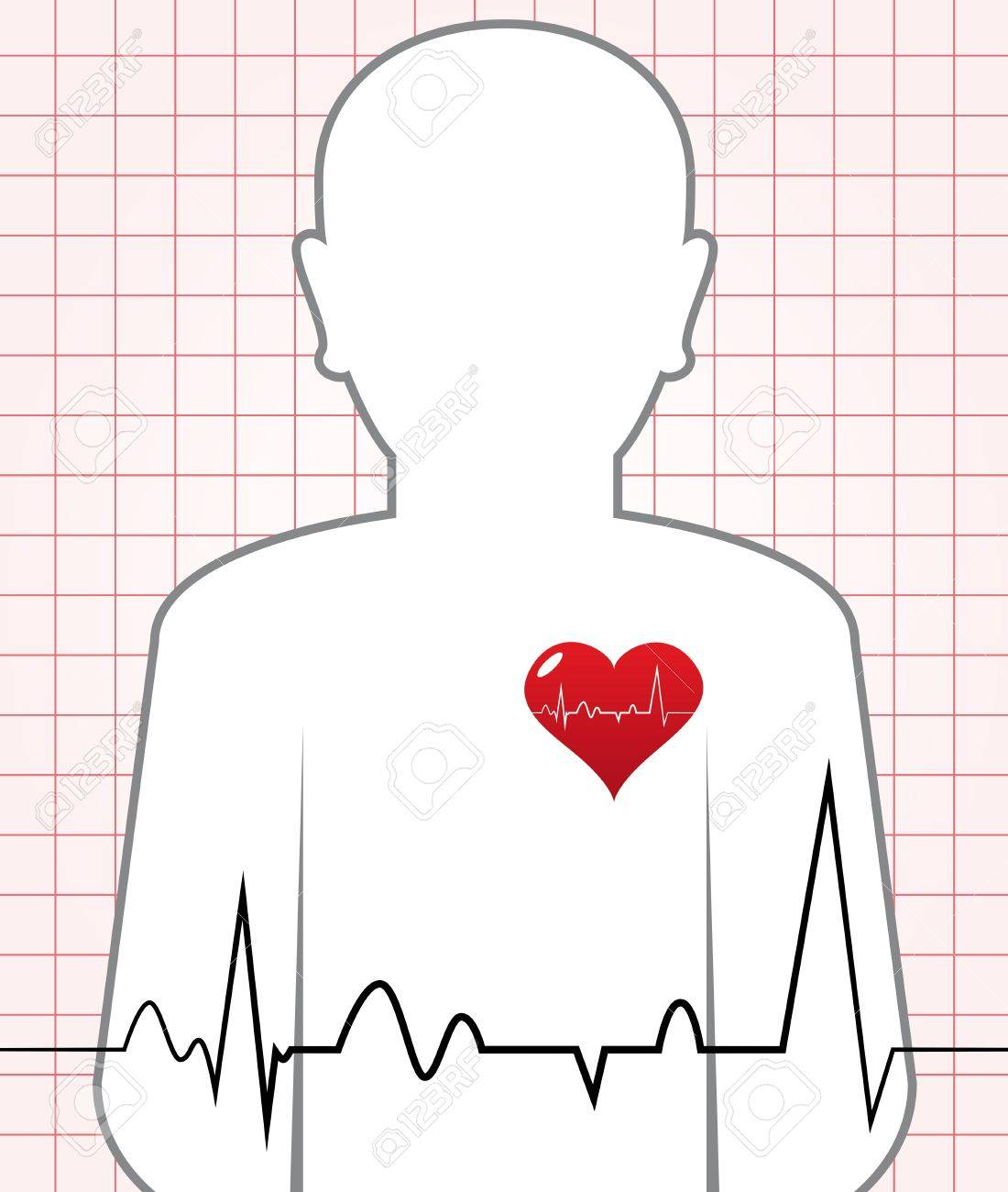 Abstract Human Heart Beat Chart