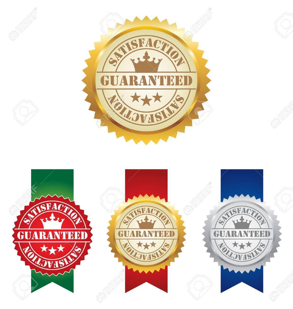 Vector Seal of Satisfaction Guaranteed Labels Stock Vector - 17084335