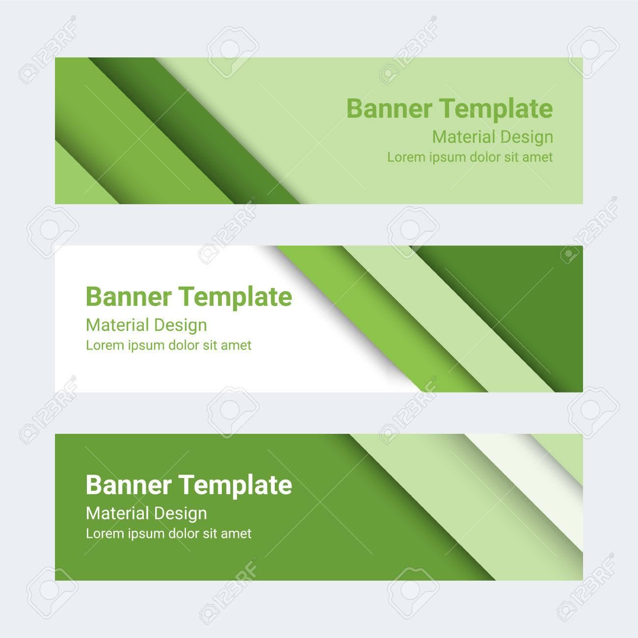 foto de archivo banners de diseo de materiales conjunto de banderas de colores modernos encabezados de pgina se puede utilizar como una