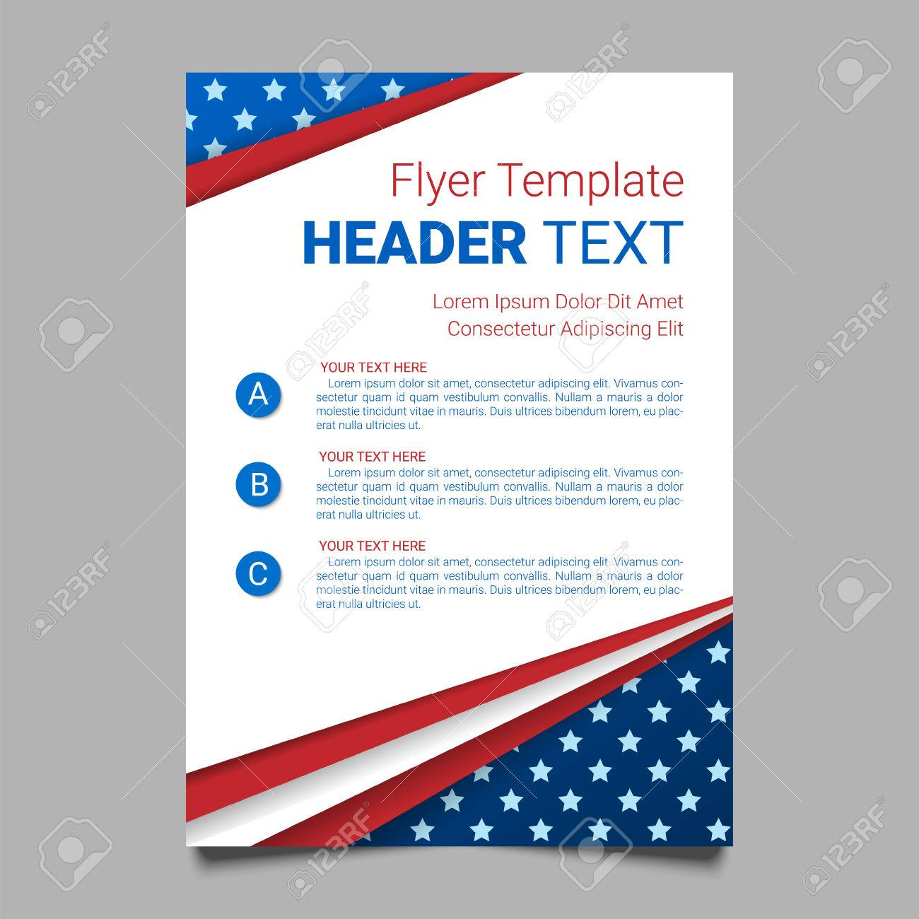 usa patriotic background vector illustration with text stripes
