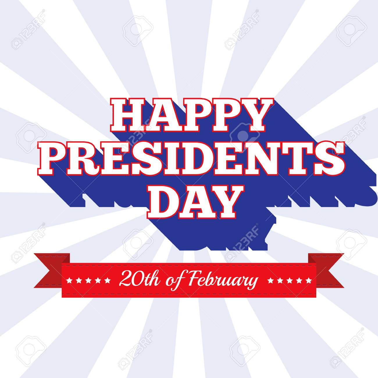 presidents day background usa patriotic template with text