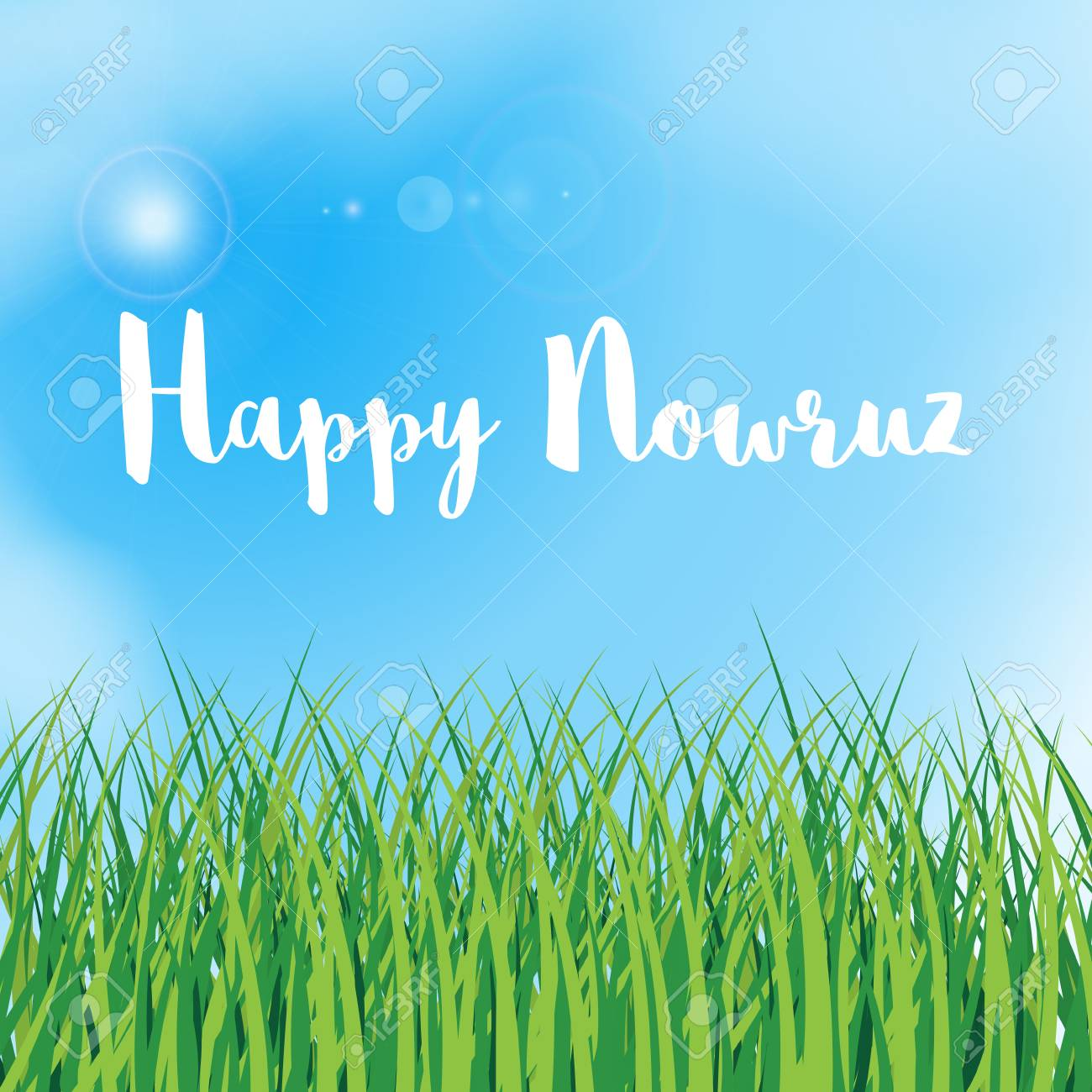 Happy nowruz greeting card iranian persian new year march happy nowruz greeting card iranian persian new year march equinox green grass kristyandbryce Gallery