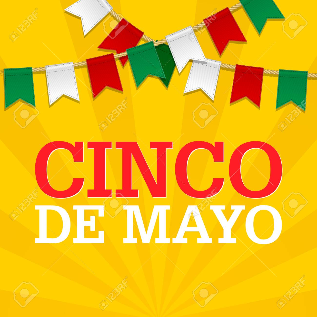 Cinco De Mayo Background For A Celebration Held On May 5 Mexican Holiday Template In