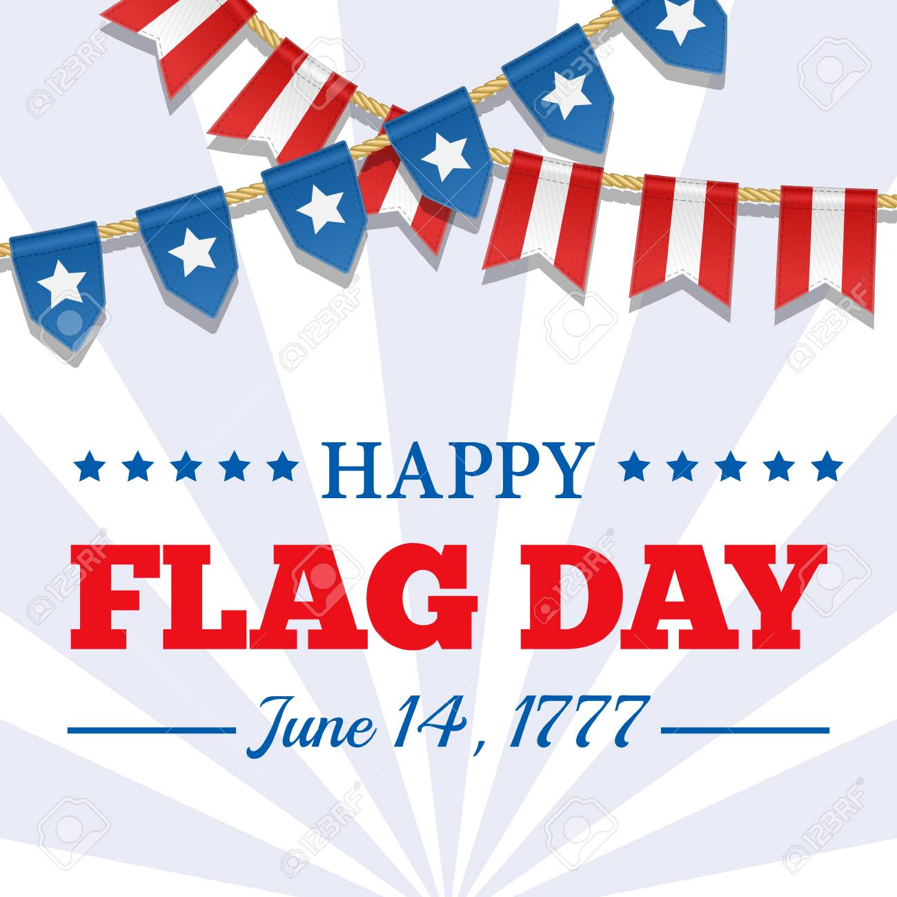flag day background usa patriotic template with text stripes