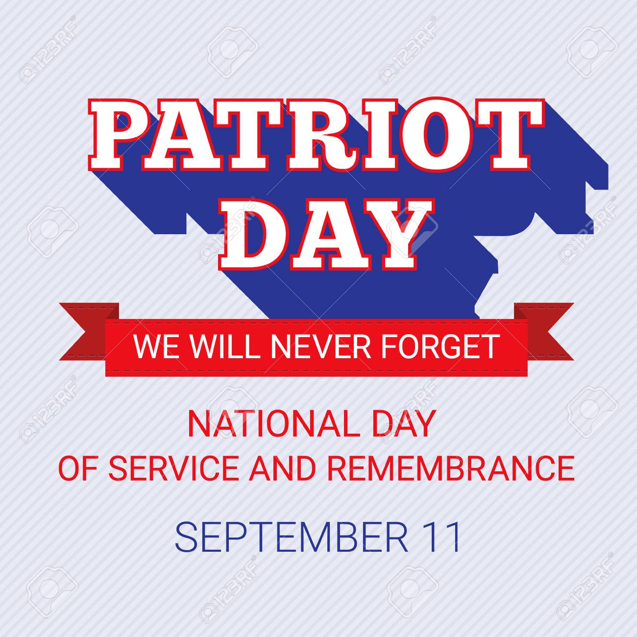 patriot day background for september 11 usa patriotic template