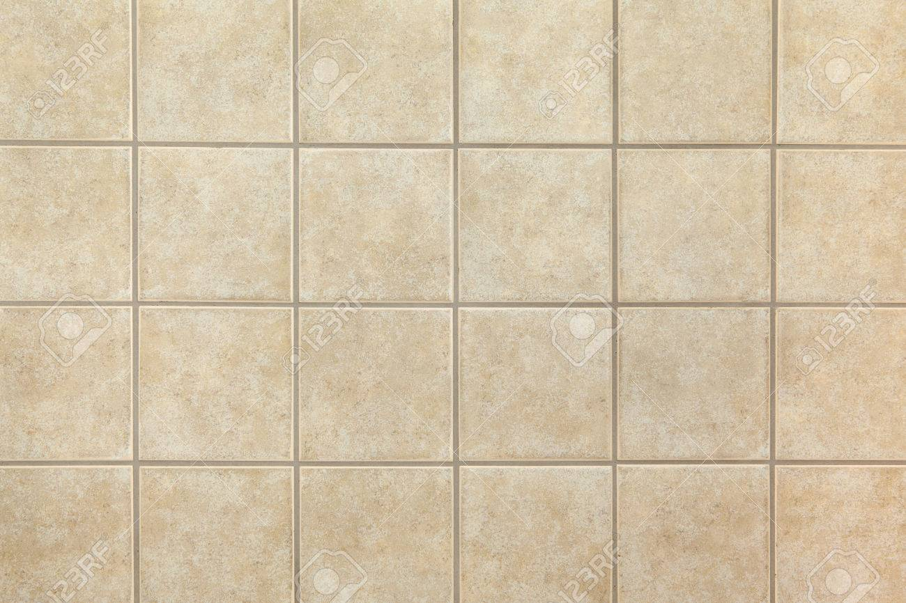 Beige Ceramic Tiles On The Wall. Design Background. Stock Photo ...