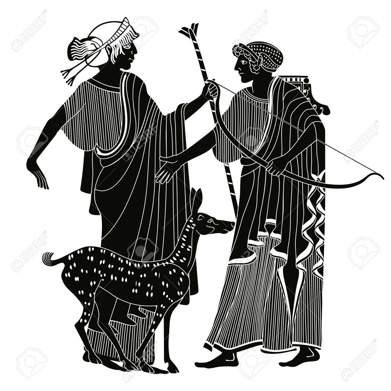 Vector Greek drawing. vector illustration. - 85417157