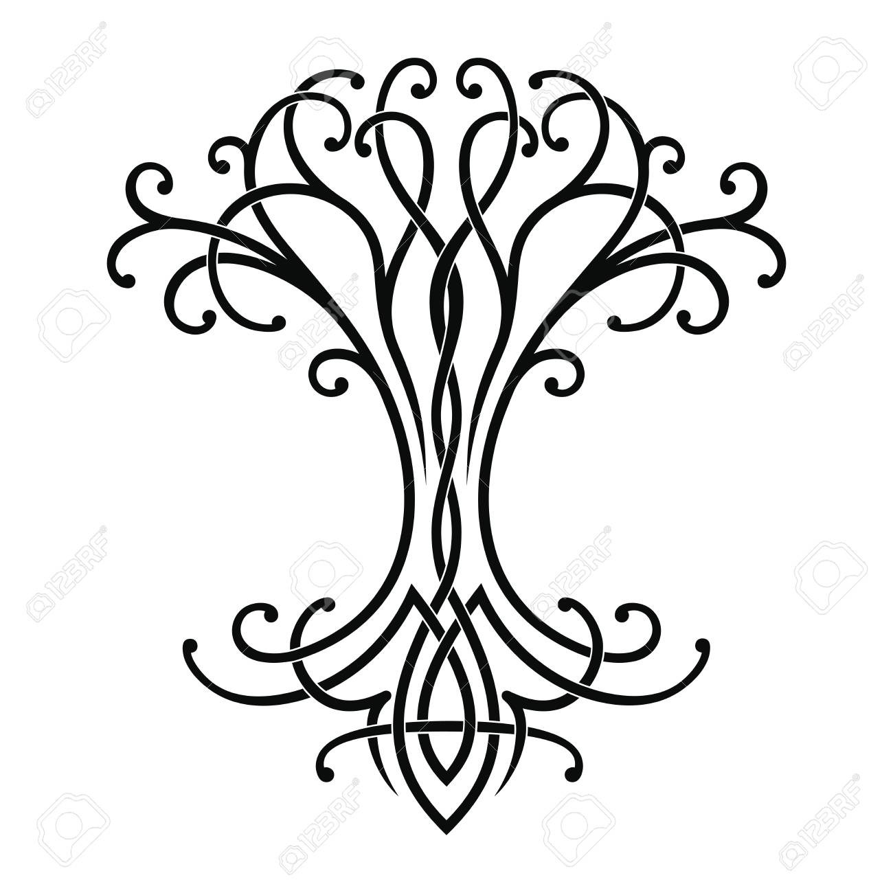 vector celtic national drawing of a tree of life royalty free rh 123rf com tree of life vector free tree of life vector equilibrium vortex