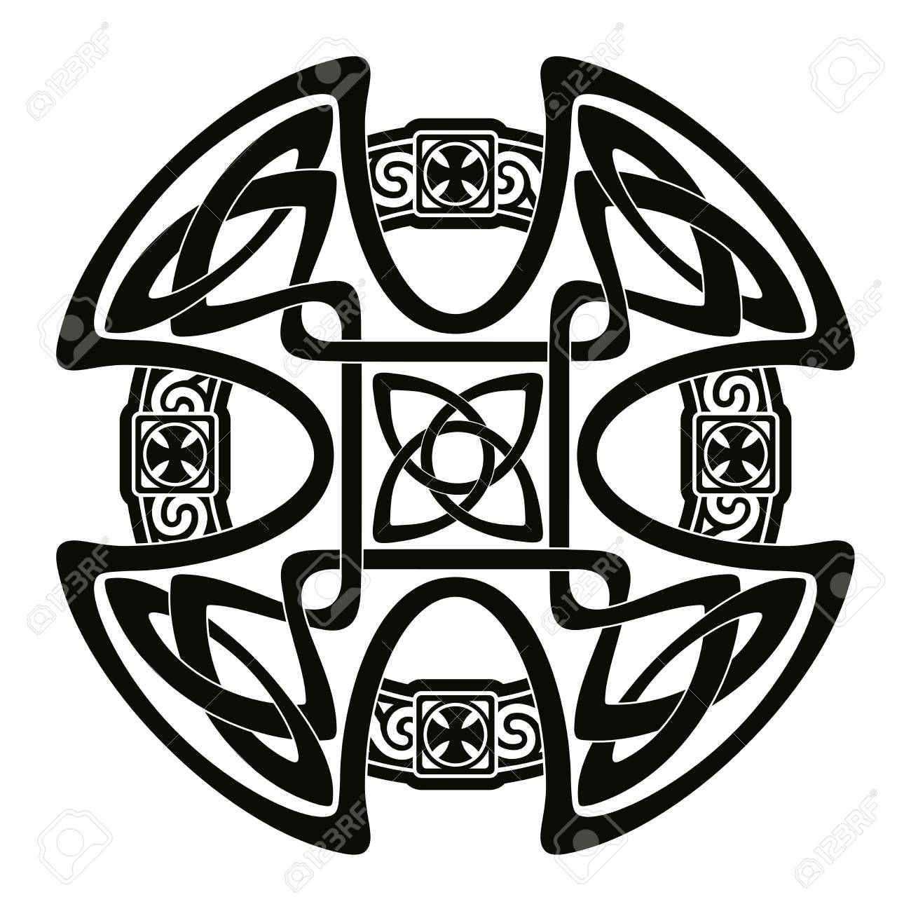 celtic cross vector illustration royalty free cliparts vectors and rh 123rf com vector celtic cross meaning free celtic cross vector designs