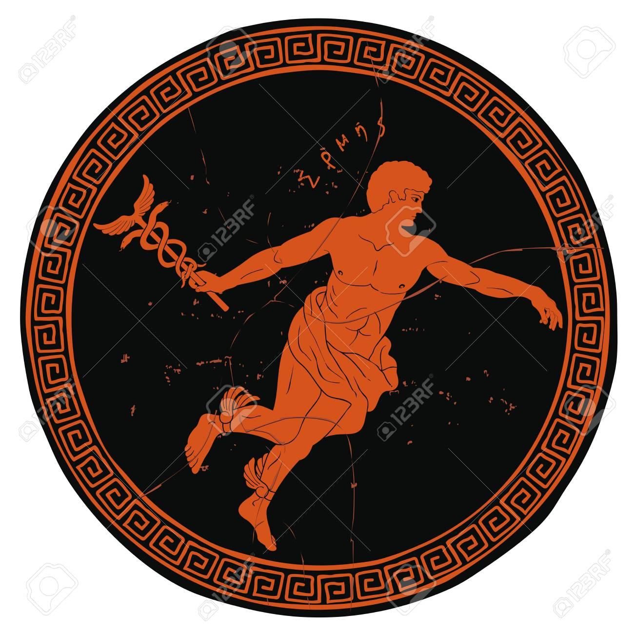 Ancient Greek god Hermes. - 110832749