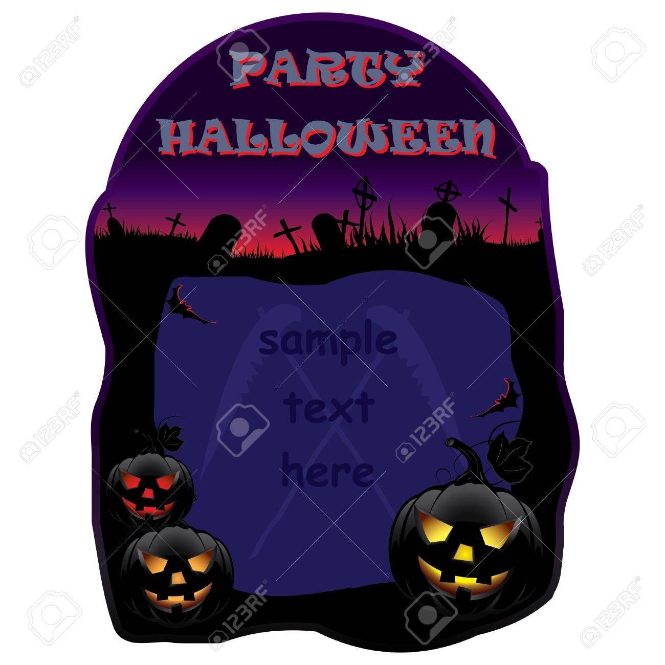 Invitation for Halloween party  Vector illustration Stock Vector - 14708775