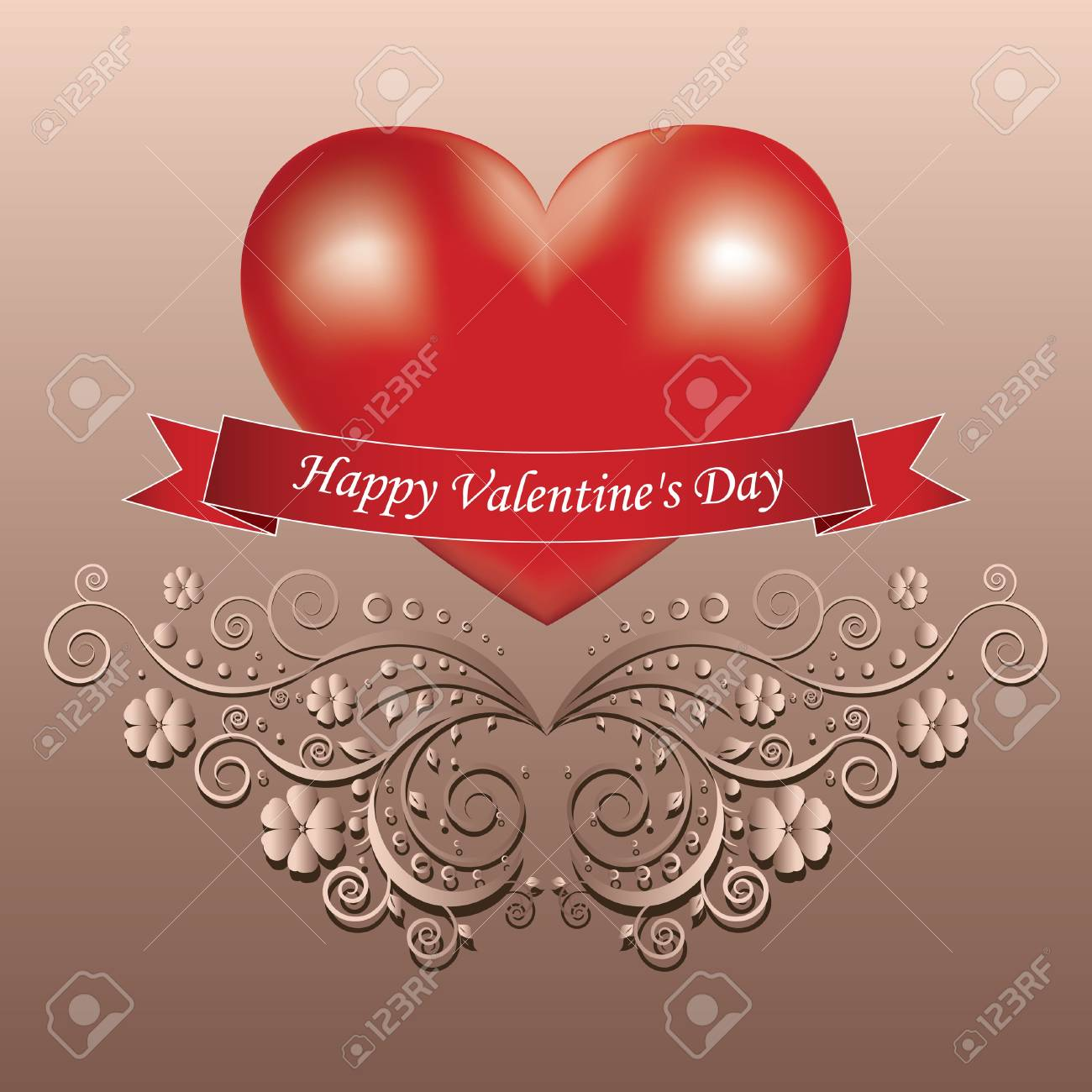 Valentine day greeting card Stock Vector - 17459691