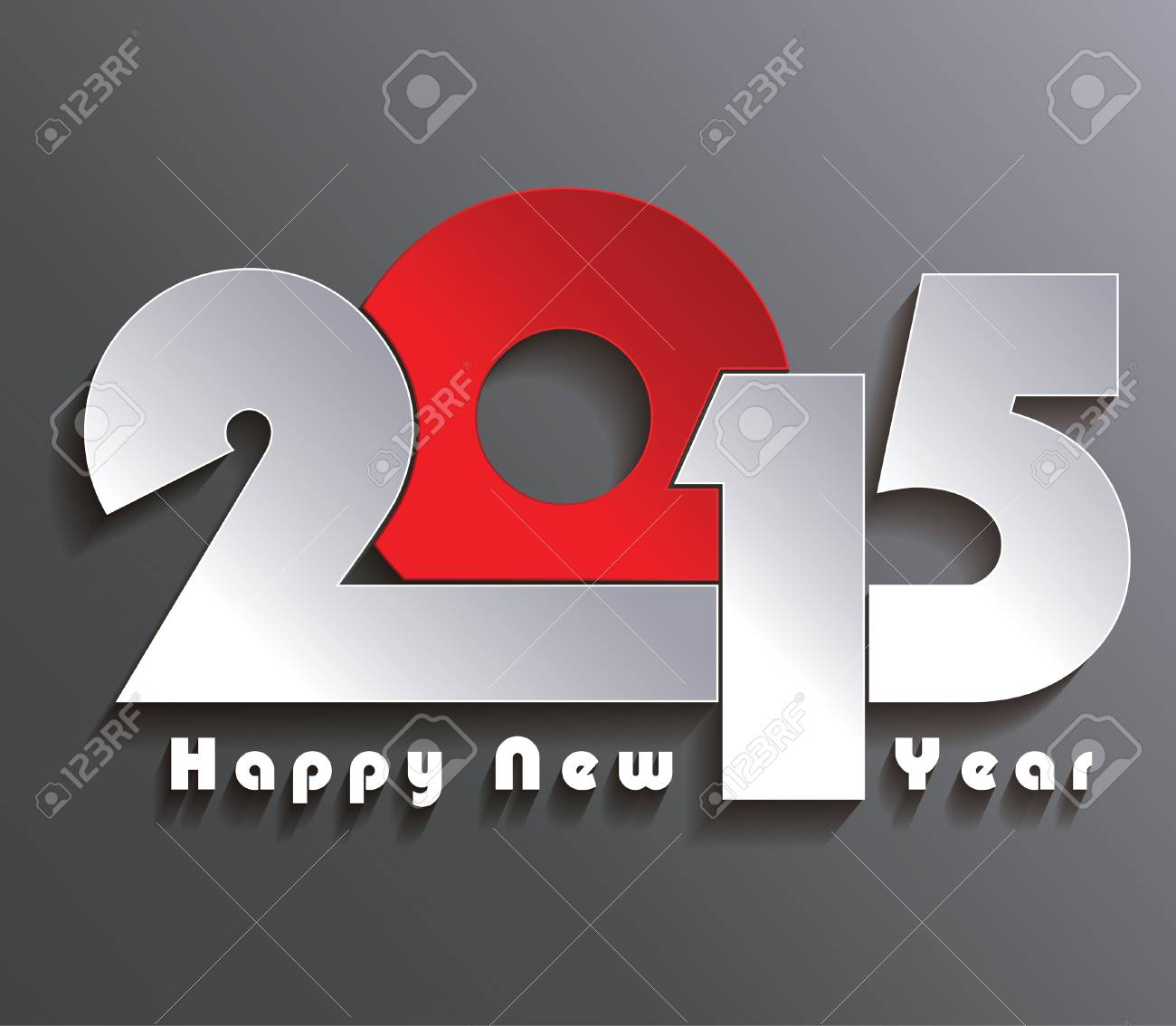 Happy New Year 2015 Creative Greeting Card Design Royalty Free