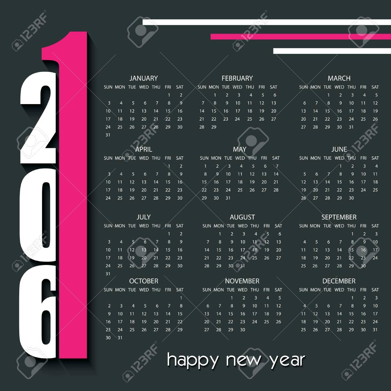 2016 creative calendar design template royalty free cliparts