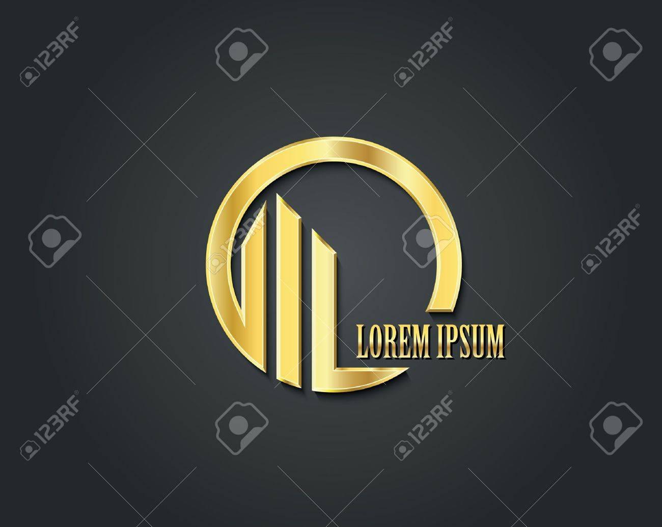 Creative vector logo design template. Golden symbol - 51375554