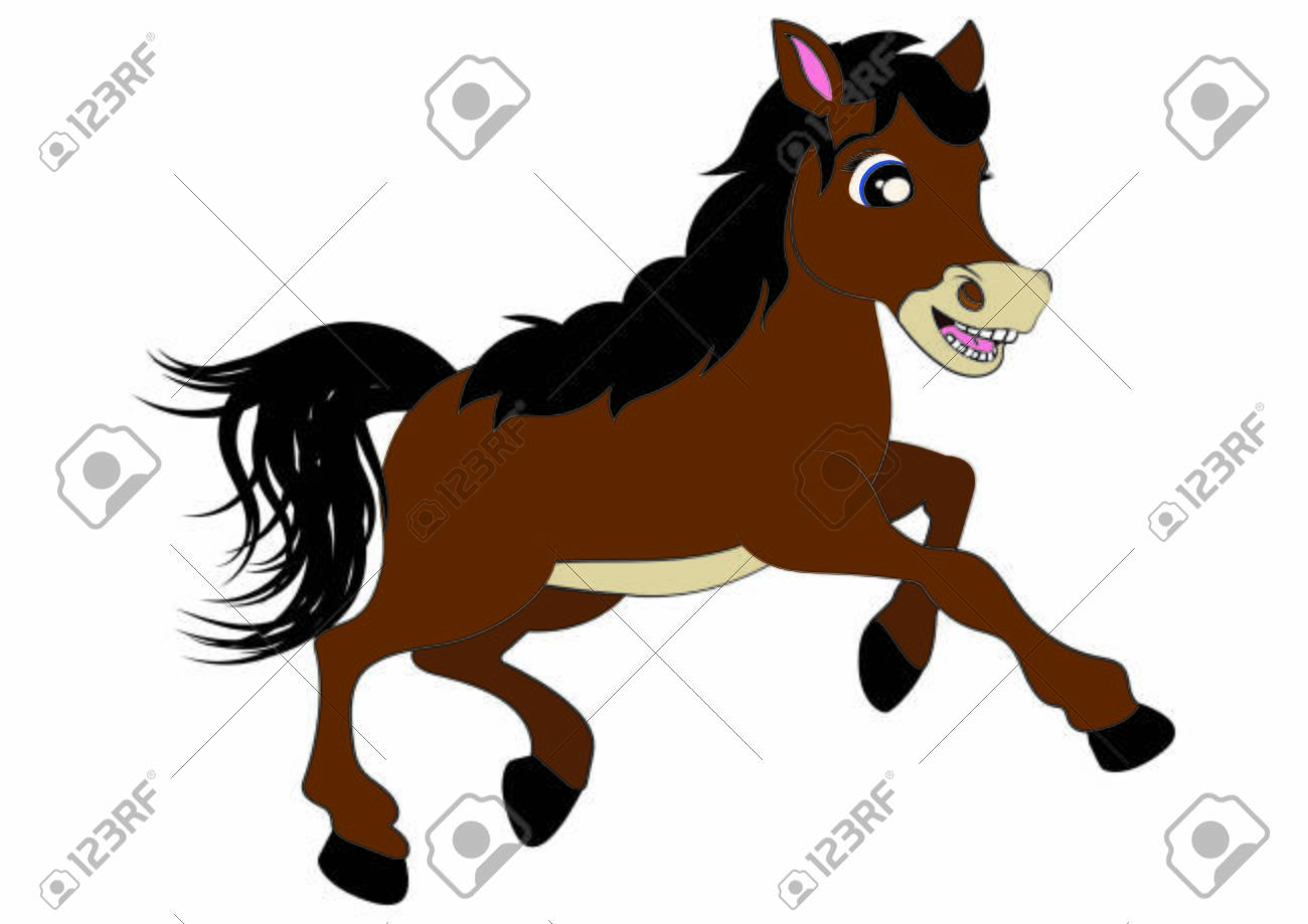 Brown Horse Running Horse Cartoon Illustration Of Horse Royalty Free Cliparts Vectors And Stock Illustration Image 141562311