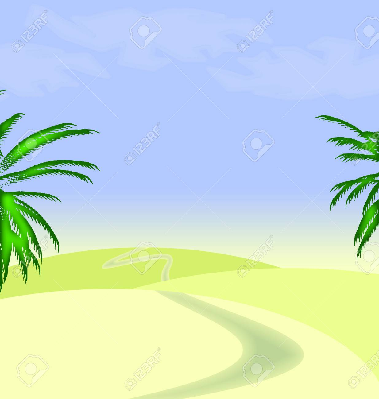 illustration of desert view Stock Illustration - 7054455