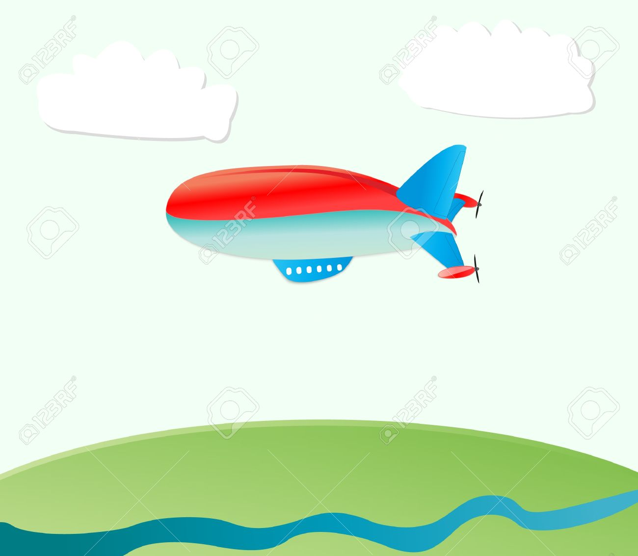 airship nature background Stock Vector - 9023062