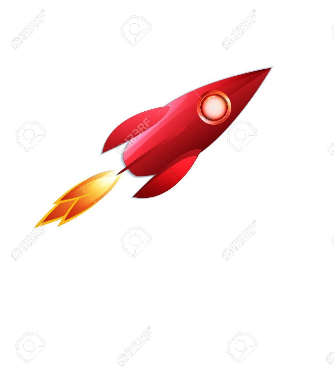 retro space rocket - 12497328