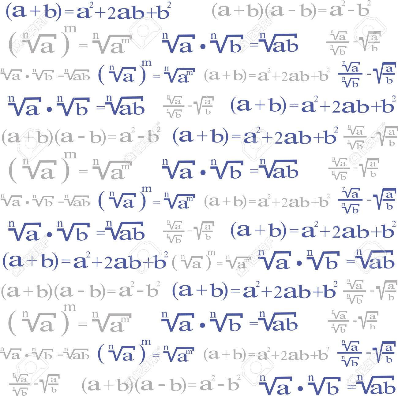 Seamless With Algebra Symbols For Background Or Wallpaper Design ...