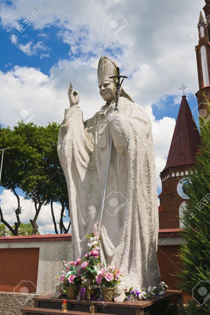 Statue of pope john paul ii symbol of christians zdjcia royalty statue of pope john paul ii symbol of christians zdjcie seryjne 14575493 buycottarizona Choice Image