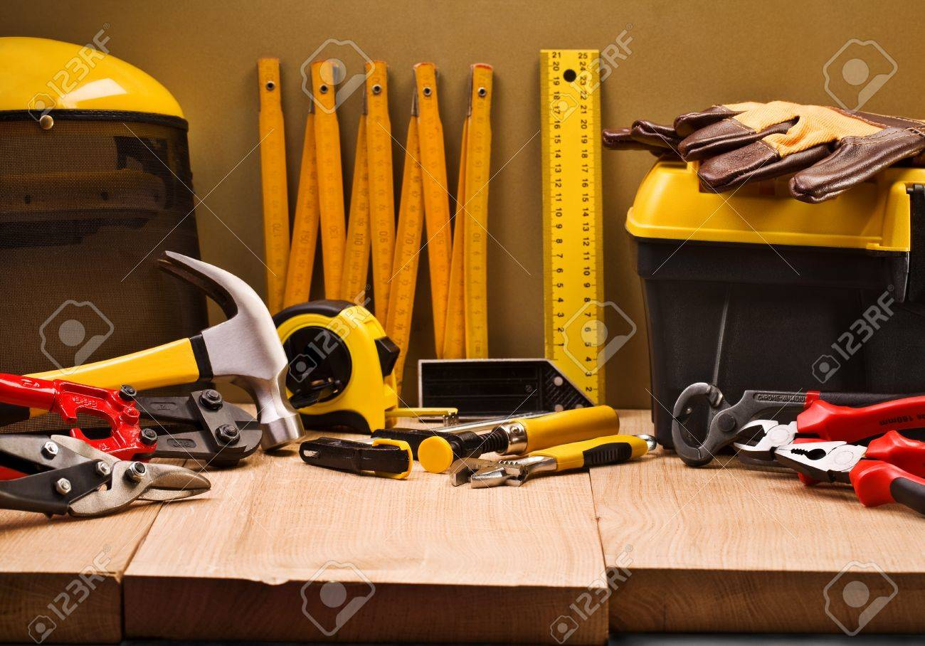 composition of working tools Stock Photo - 11465857