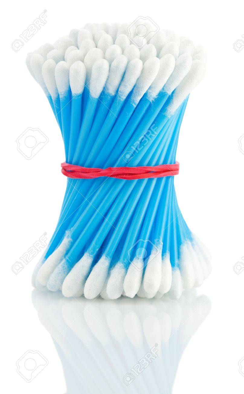 blue Cotton swabs Stock Photo - 11474220