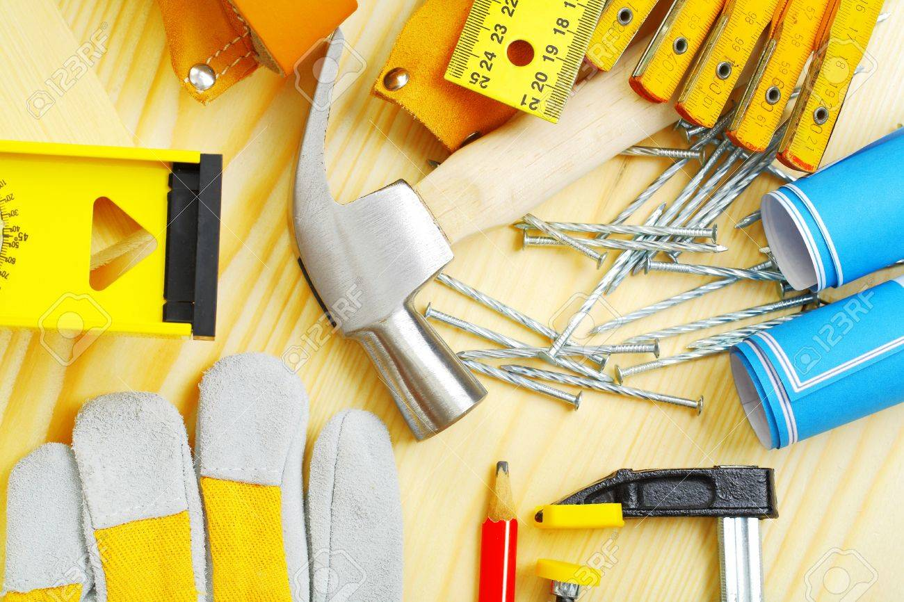 carpentry tools set Stock Photo - 17311621