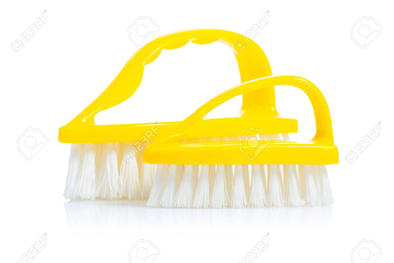 Two Small Kitchen Brushes Isolated Stock Photo, Picture And Royalty ...
