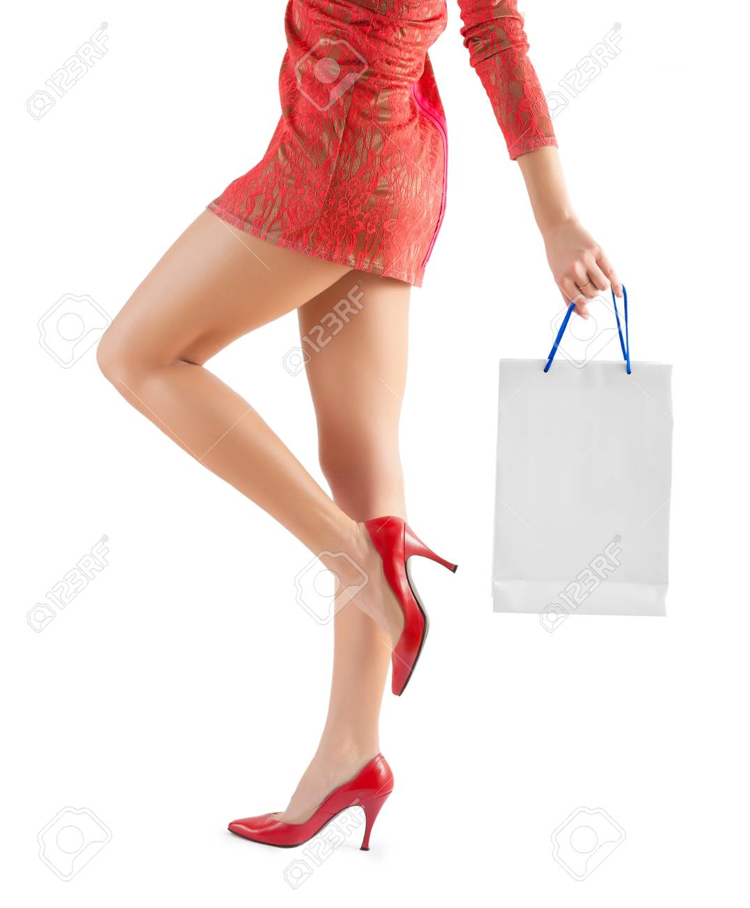 female holding paperbag very close up Stock Photo - 25274016