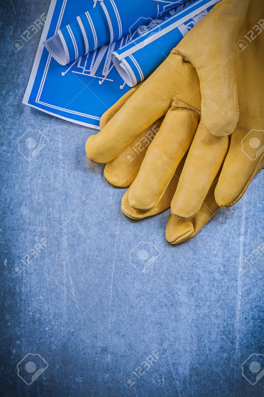 acquistare vasta selezione comprare reale Raccolta di guanti di pelle blu arrotolato progetti.