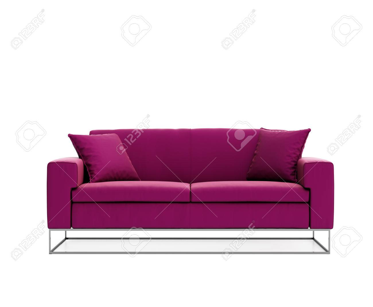Marvelous Isolated Contemporary Pink Purple Contemporary Sofa Stock Photo   25965327