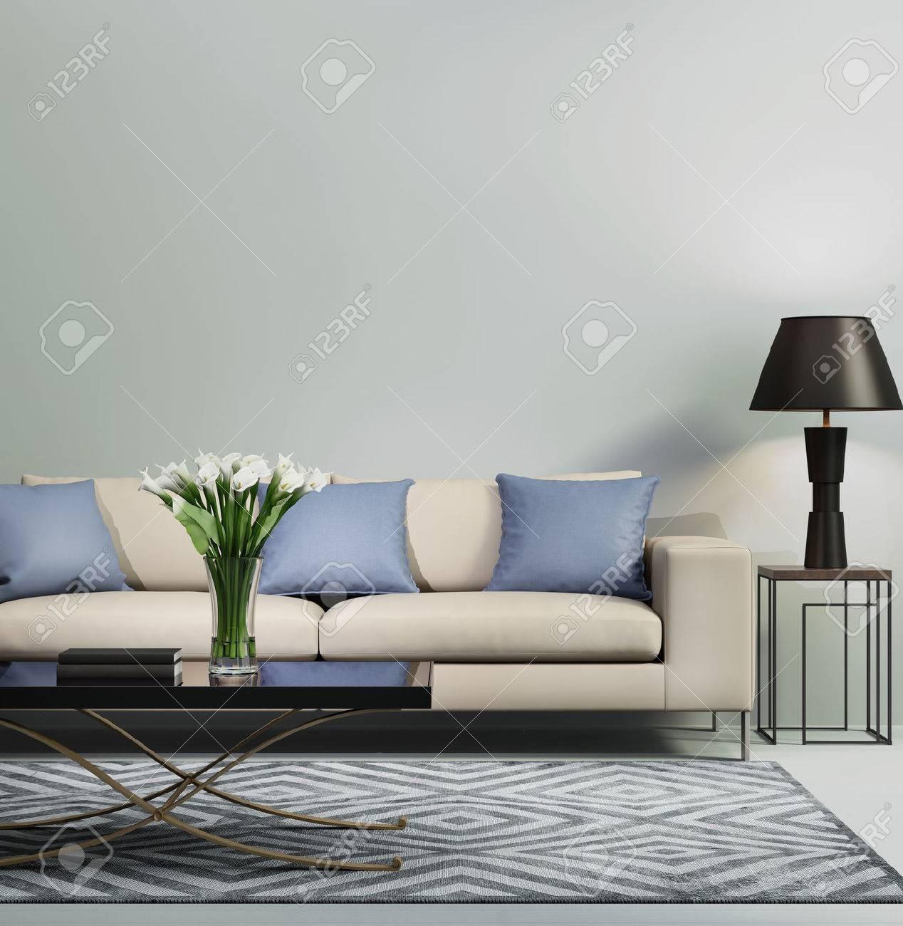 Liebenswert Couch Hellblau Beste Wahl Zeitgenössischen Modernen Sofa Standard-bild - 45838628