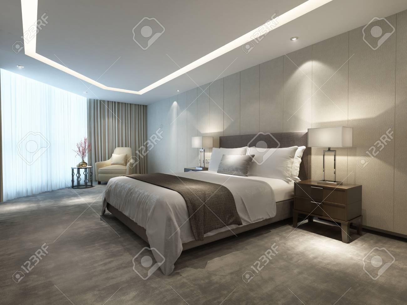 Chambre d\'hôtel de luxe moderne contemporain