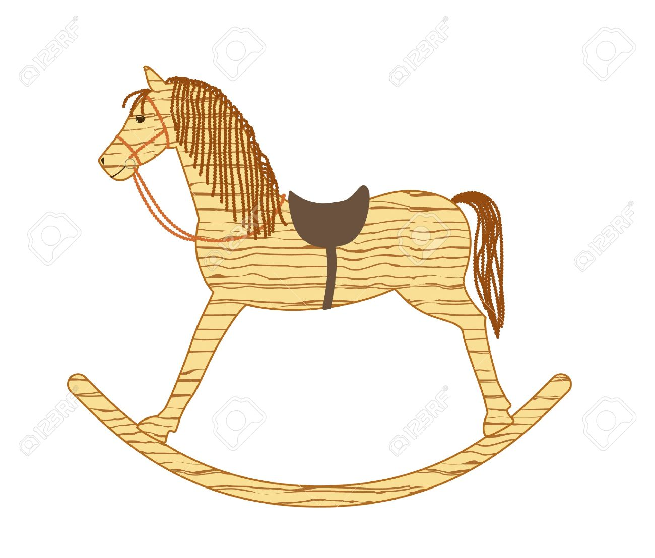 Wooden Rocking Horse Royalty Free Cliparts Vectors And Stock Illustration Image 19938918