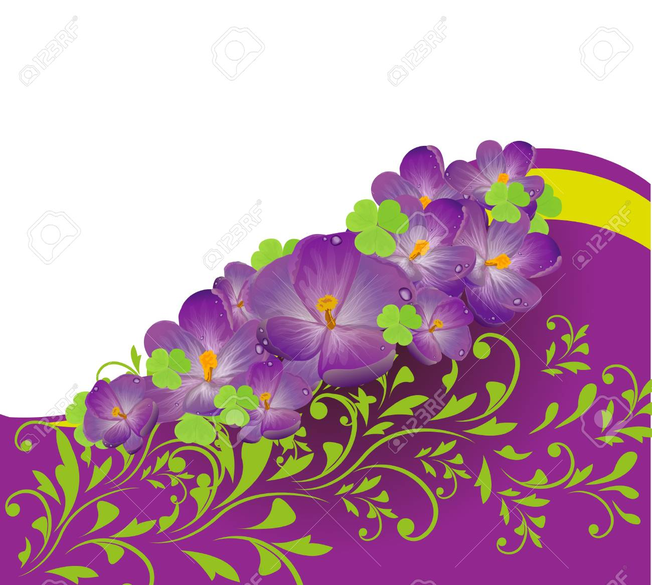 Invitation or wedding card with abstract floral background. Stock Vector - 18442578