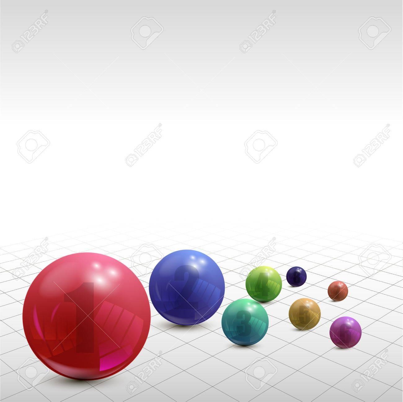 Set of colorful balls on white background, illustration Stock Vector - 18526057