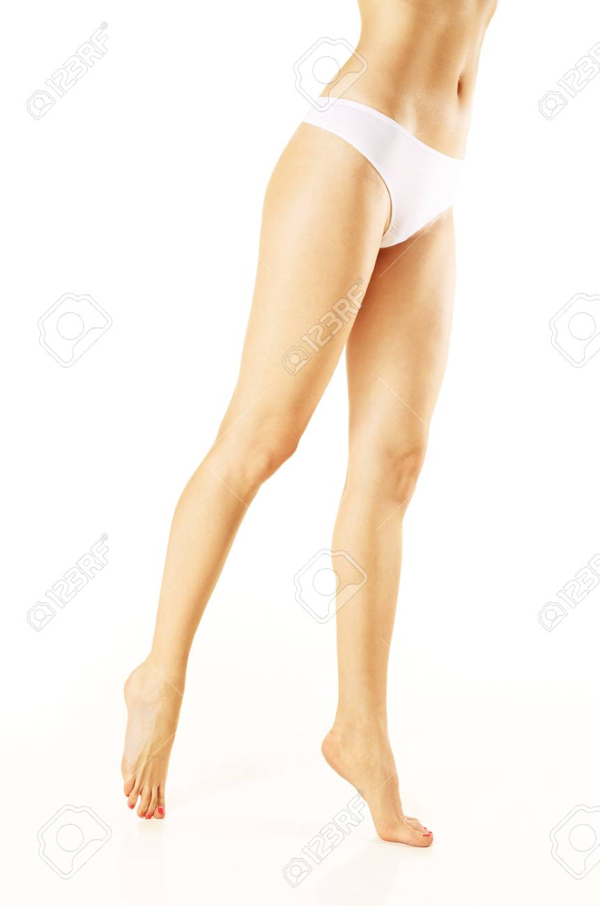Slim woman legs over isolated white background Stock Photo - 13288571