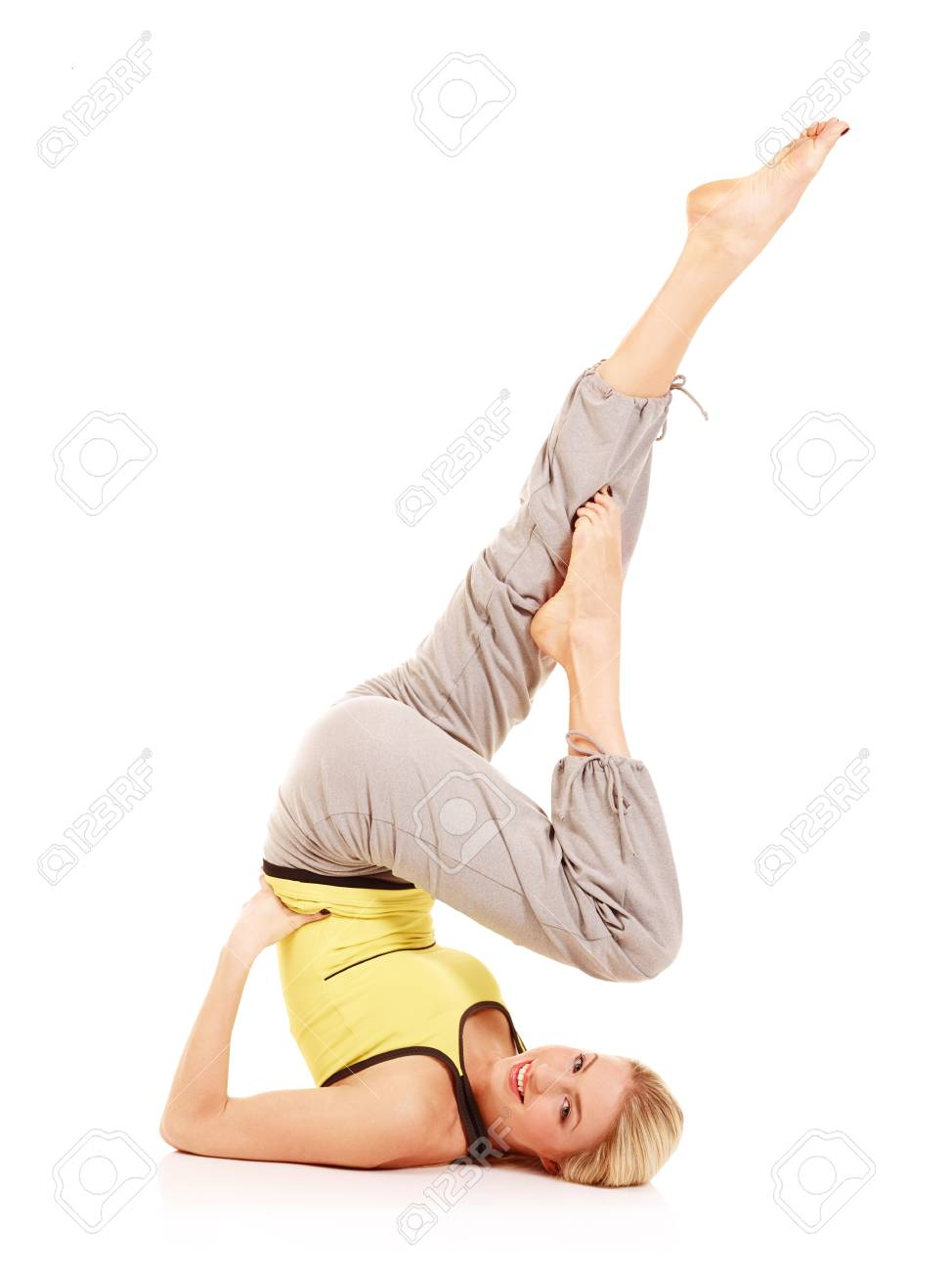 Young female athlete doing aerobics Stock Photo - 17415203