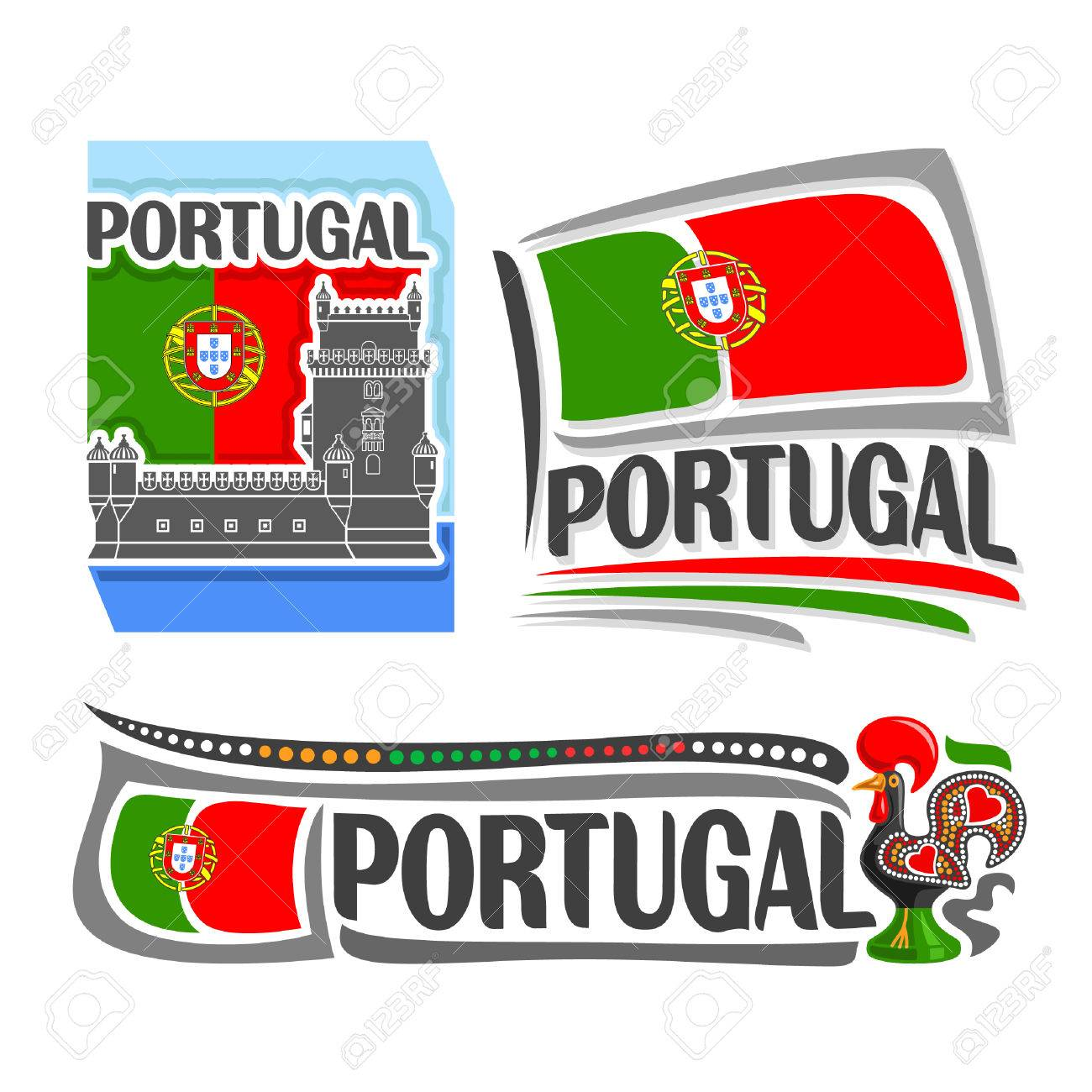 Illustration Of The Icon For Portugal Consisting Of 3 Isolated