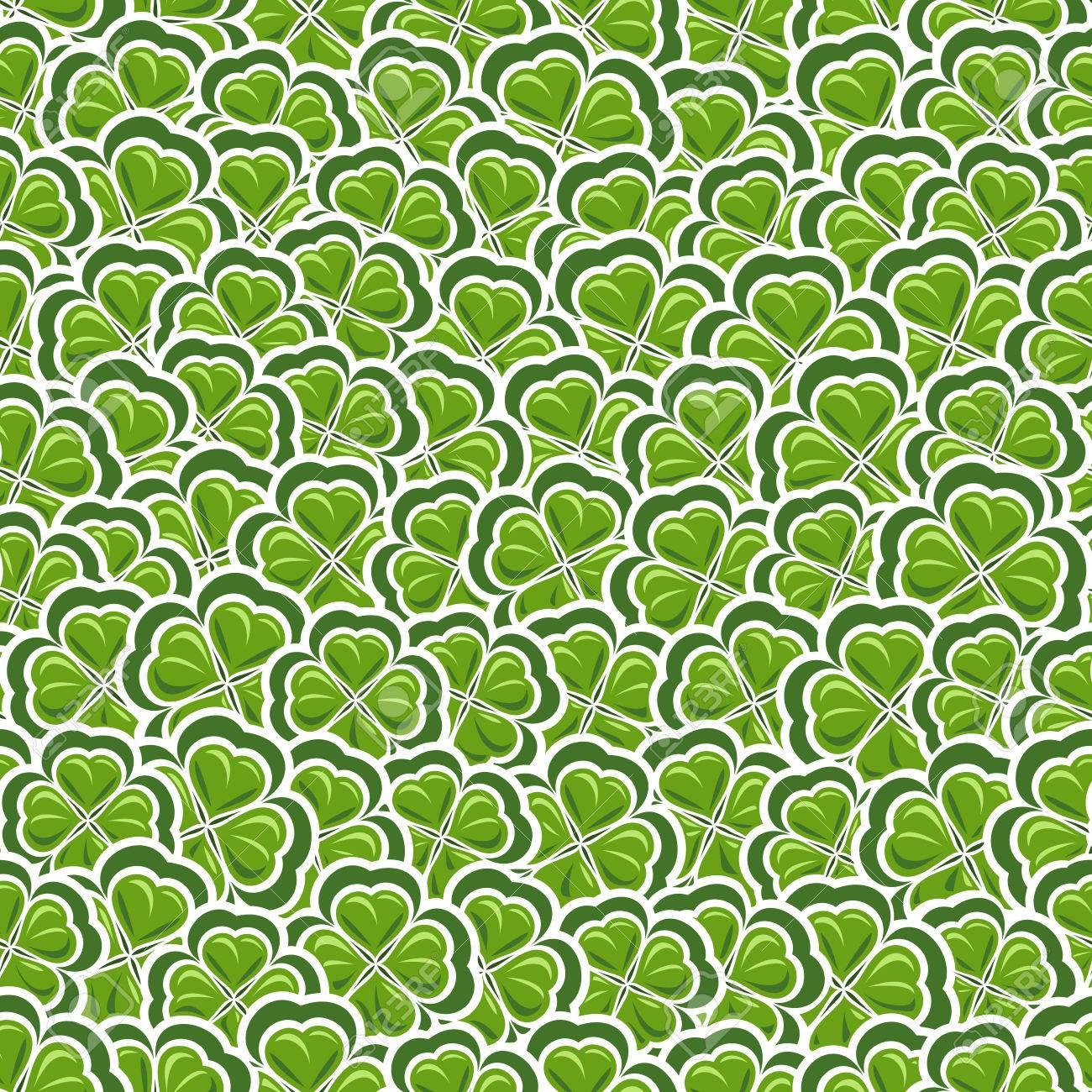 聖パトリックの日 グリーン アート芝生 花の背景壁紙アイルランド
