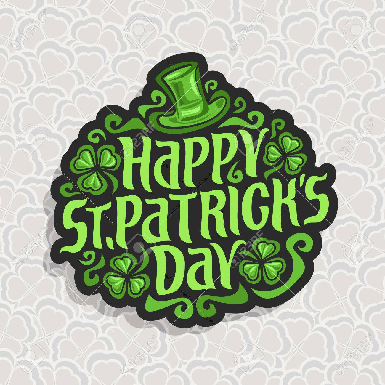 328826536ff Vector - Vector abstract logo for St. Patrick s Day on Shamrock background
