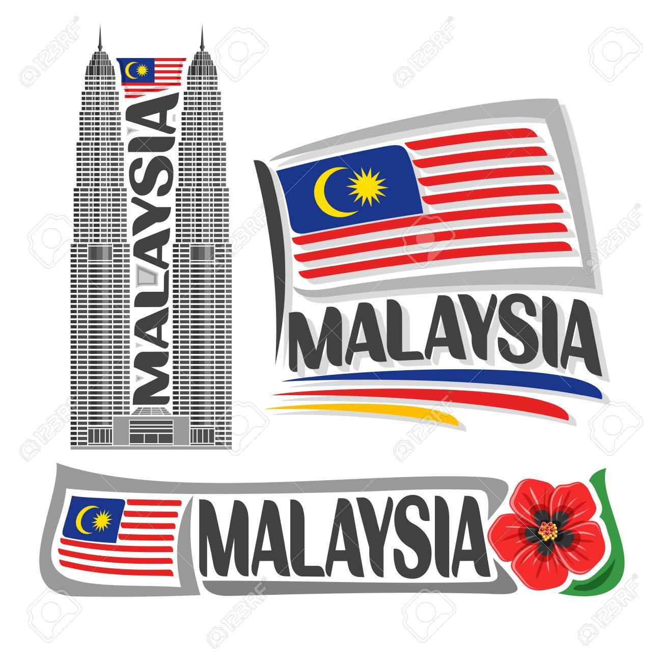 Vector logo malaysia 3 isolated images vertical banner skyline vector logo malaysia 3 isolated images vertical banner skyline petronas twin towers on malaysian buycottarizona Gallery