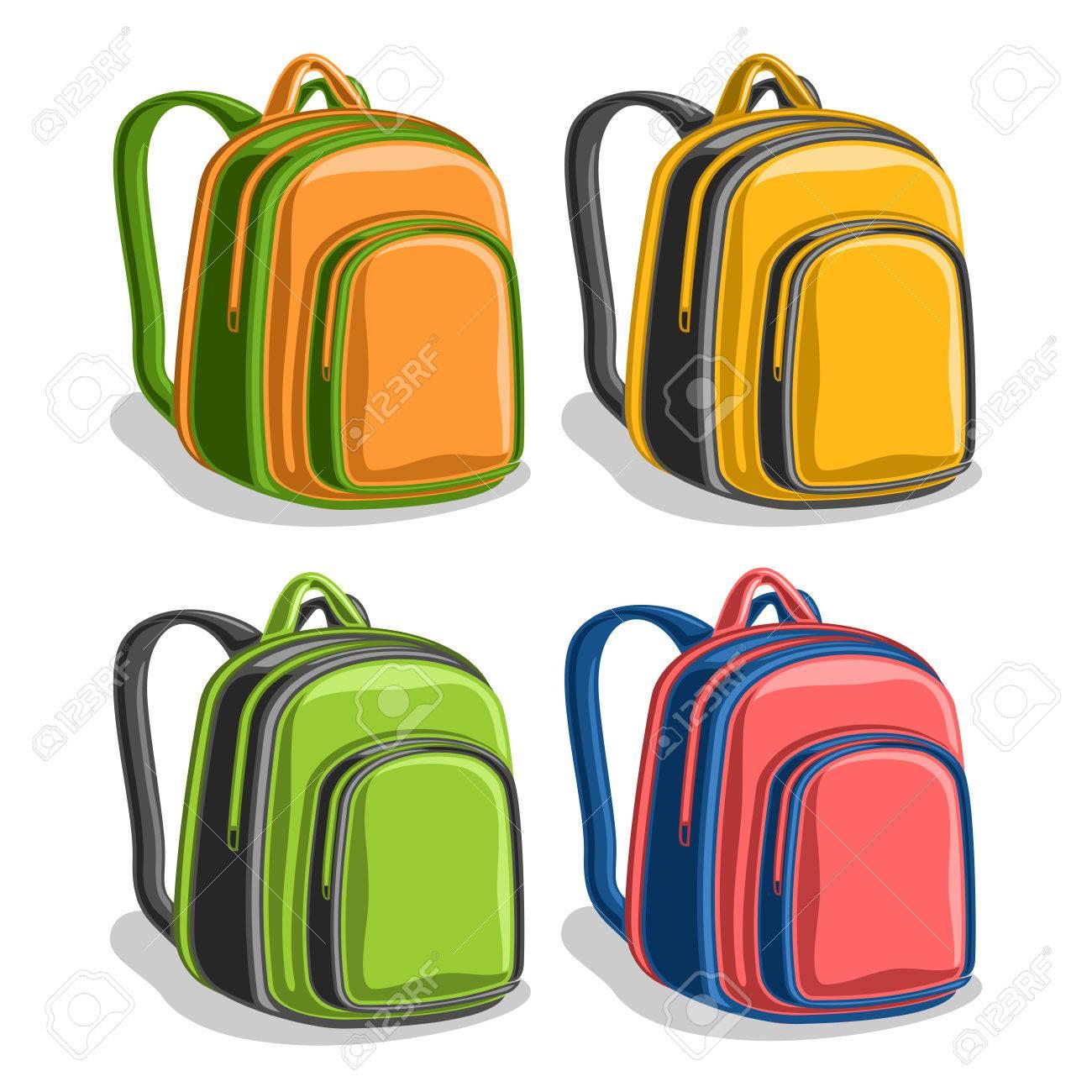 31e64b7ae1 Vector - Vector set colorful school Backpacks