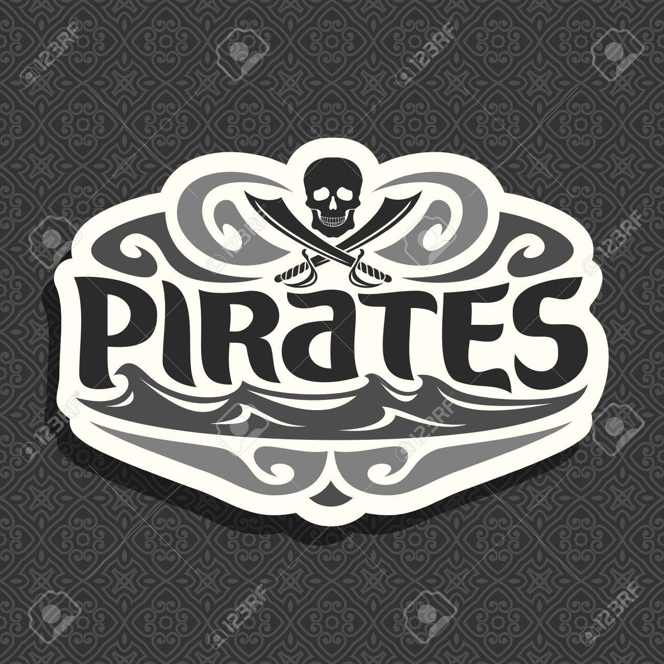 Vector black and white logo for pirate theme skull and crossed vector black and white logo for pirate theme skull and crossed swords title text buycottarizona Images