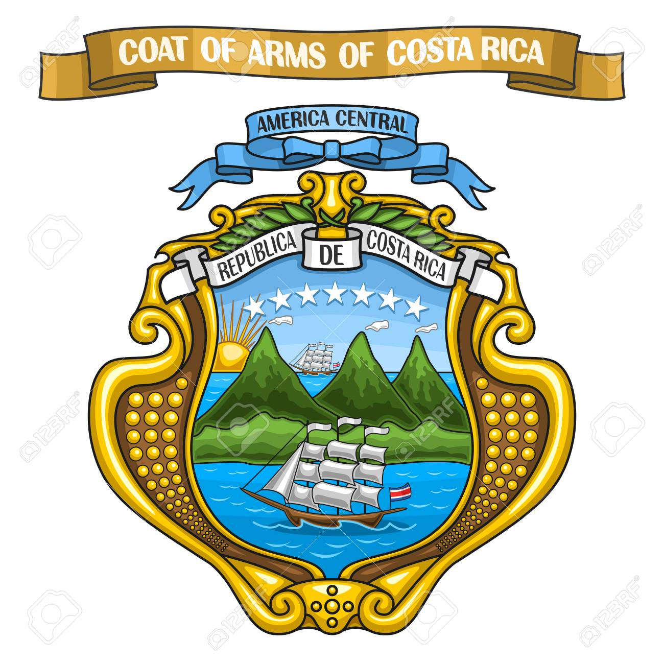 Vector illustration of the costa rican coat of arms royalty free vector illustration of the costa rican coat of arms stock vector 80100686 biocorpaavc Gallery