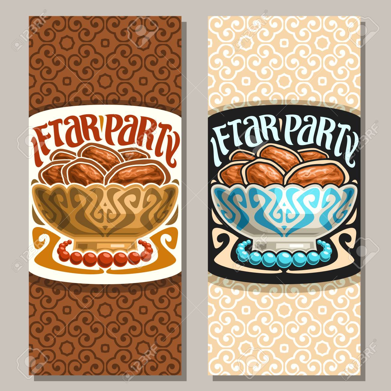 Iftar Banners Curved Ribbon Banners