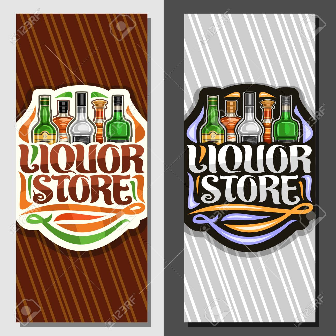 Liquor store simple powerpoint template design.