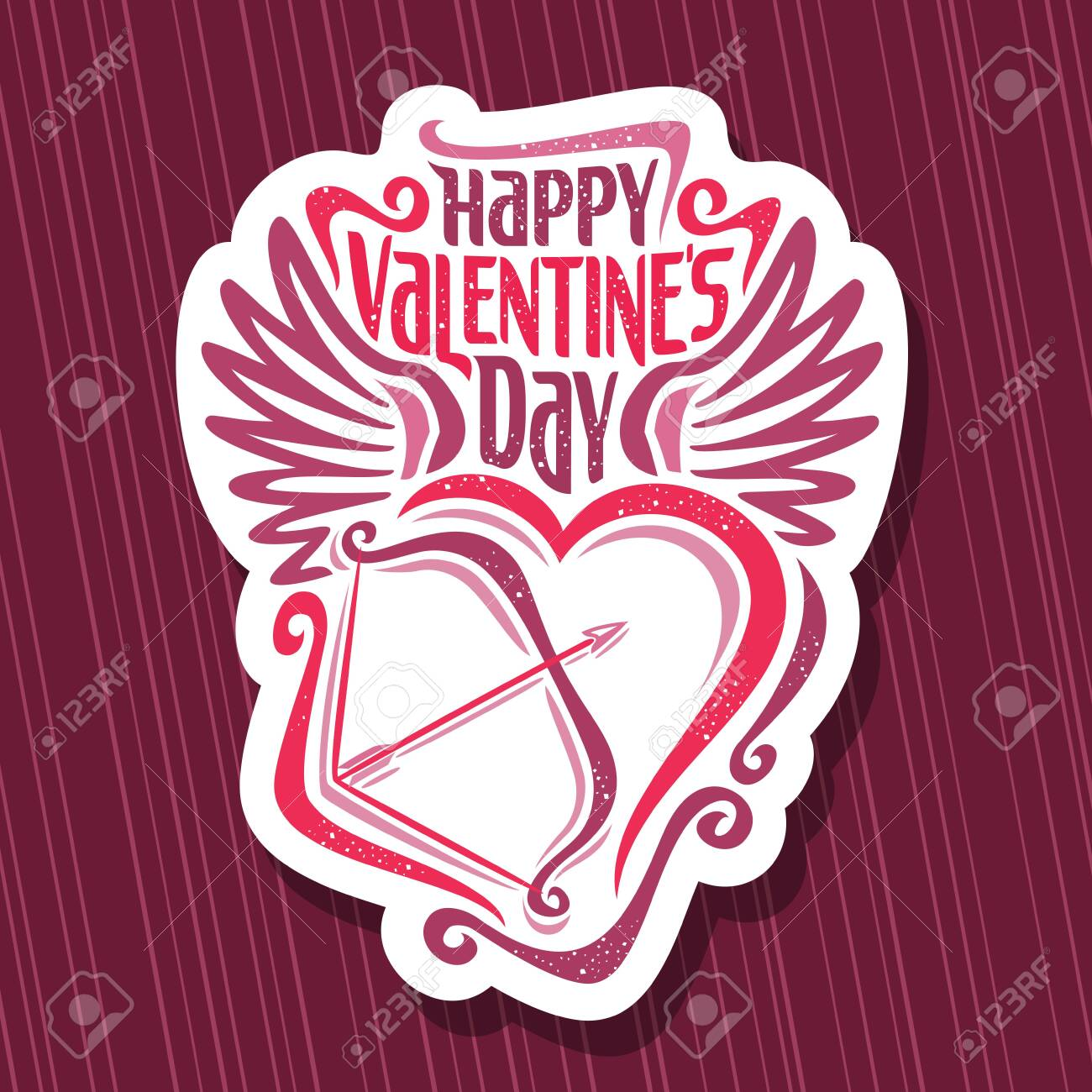 St Valentine S Day Cut Paper Tag With Original Font For Greeting Royalty Free Cliparts Vectors And Stock Illustration Image 137937444