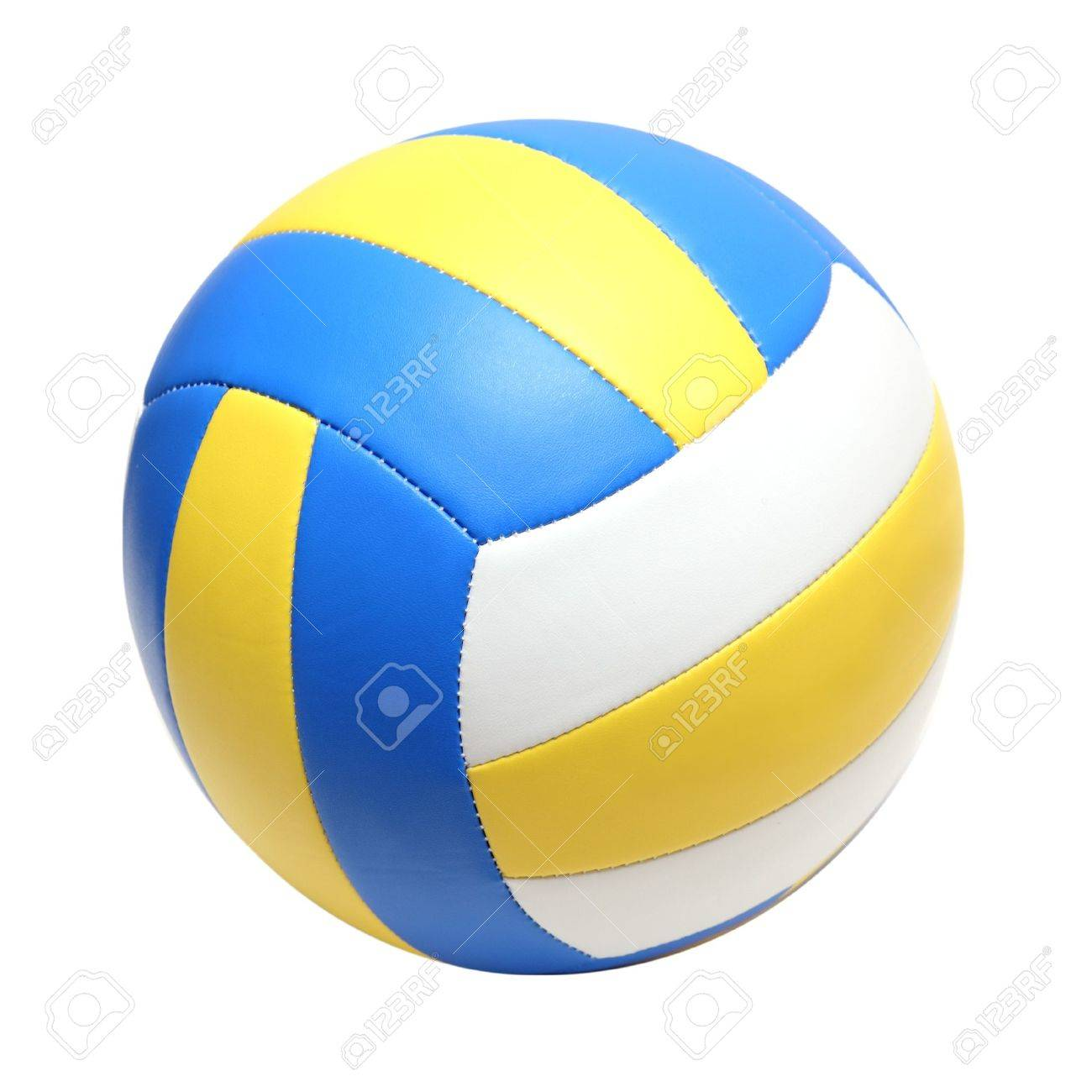 leather color volleyball ball isolated on white - 11017923